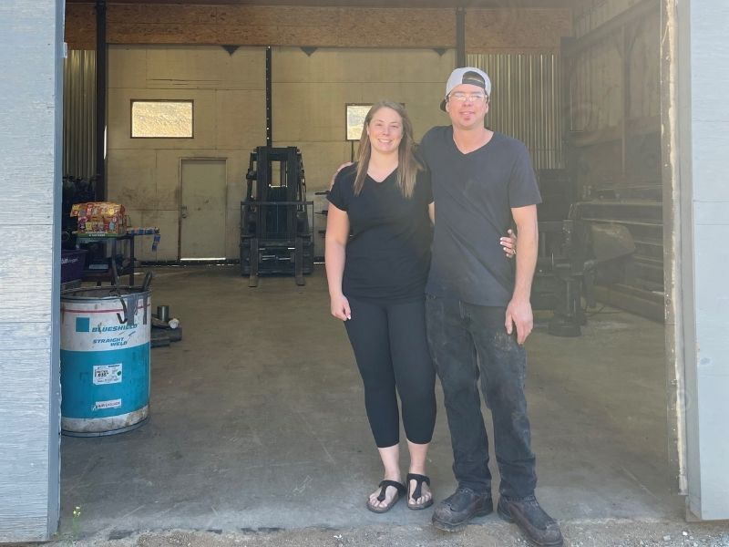 Joey and Tyrell Polzin, owners of SLOKA Machining in Grand Forks